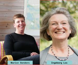 Marion Sanders en Ingeborg Los, regiobestuurders Gelderland